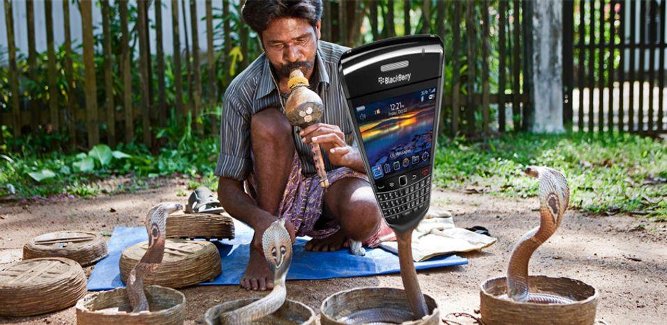 India vil temme Blackberry