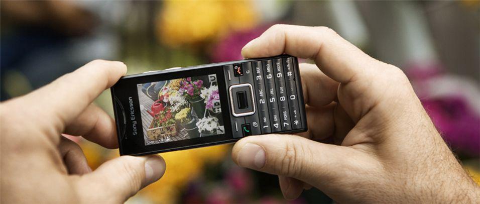 Sony Ericsson-mobil på miljøtoppen
