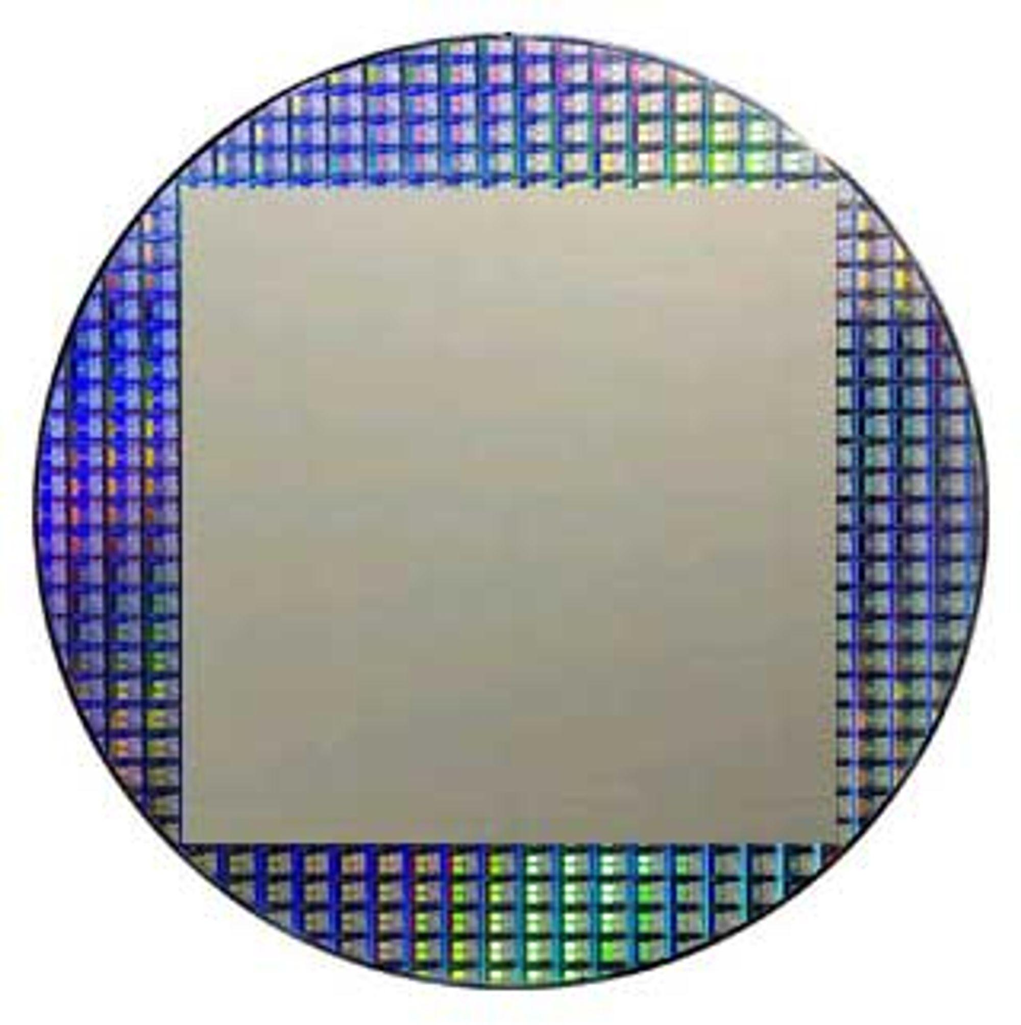 Briken fyller en hel 12-tommers silisium-plate.