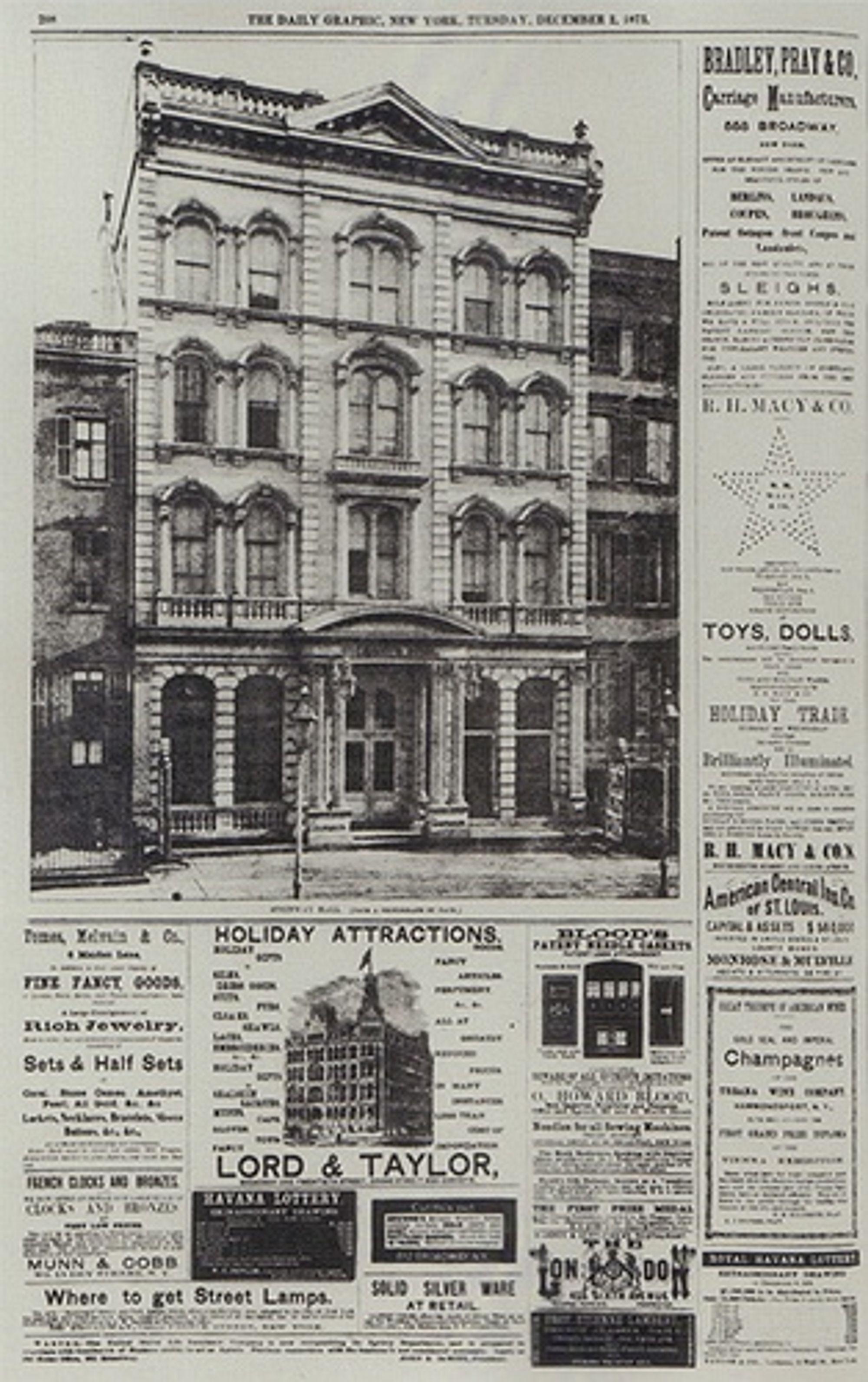 Verdens første halftone-gjengivelse av et fotografi, i New York Daily Graphic 2. desember 1873.