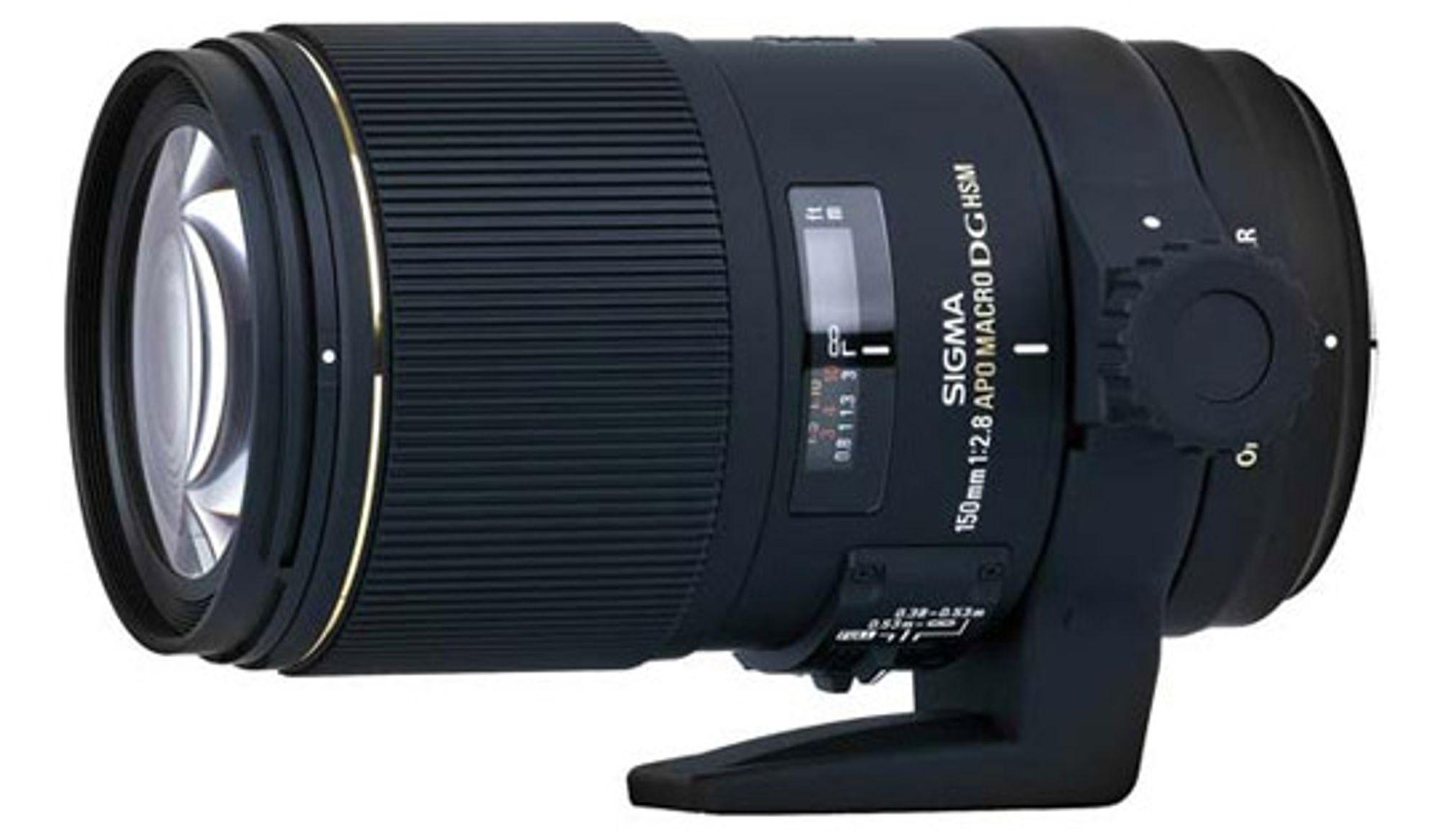 Sigma 150mm f/2.8 har ni avrundede blenderlammeler.  FOTO: Produsenten
