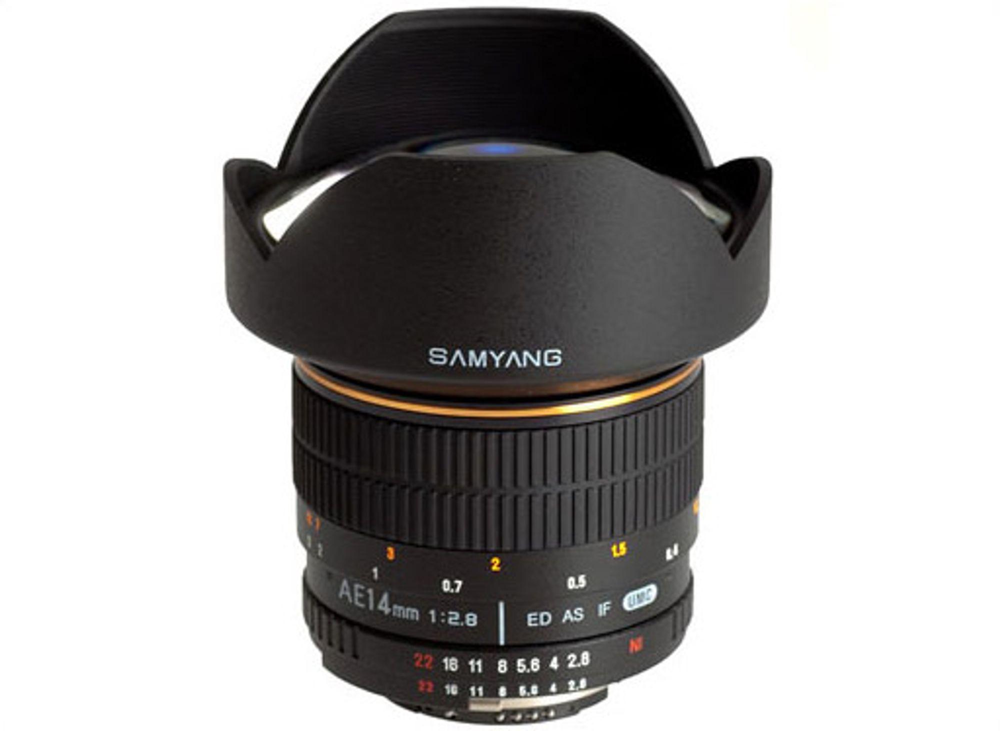 Samyang AE 8mm f/2,8 kan brukes både på FX- og DX-kamera fra Nikon. FOTO: Produsenten.