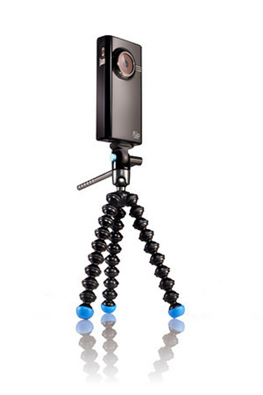 Den nye tripoden er beregnet på relativt små kameraer.