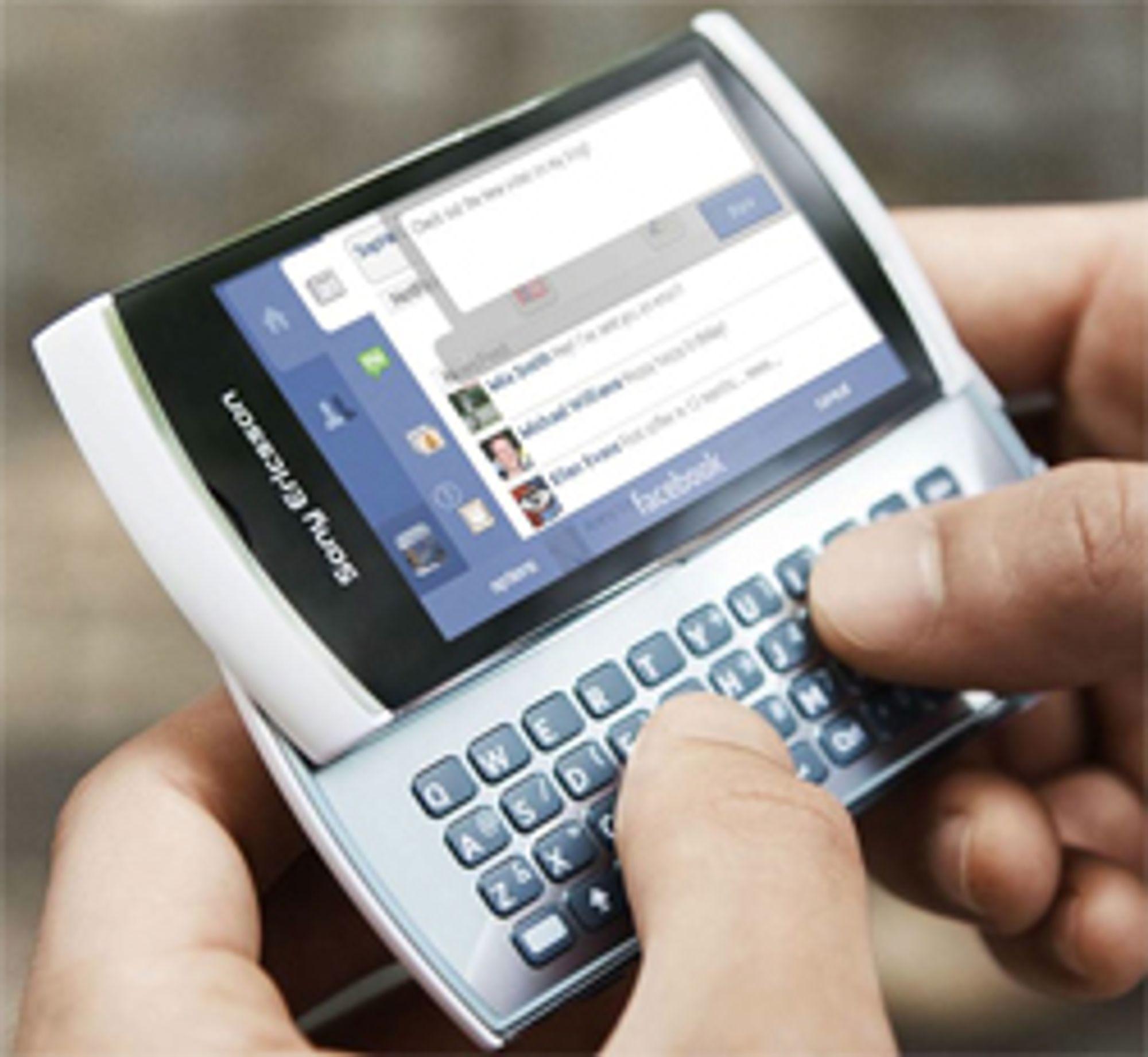 Sony Ericssons seneste mobil med Symbian, Vivaz Pro.