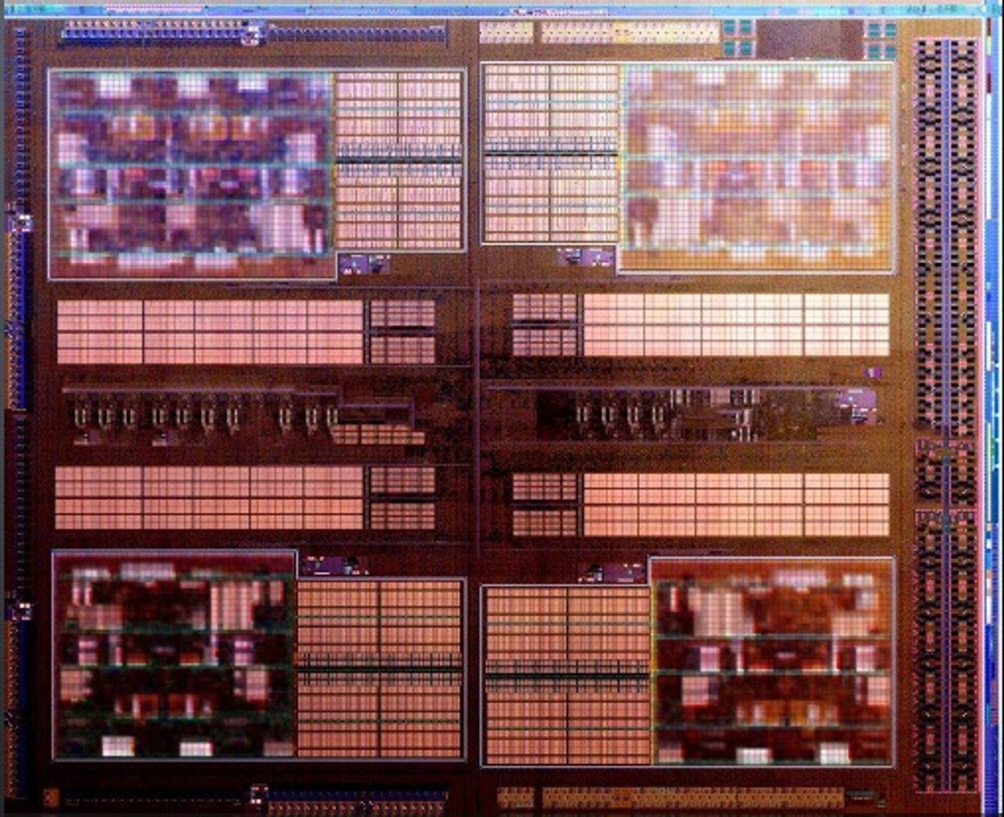 (Bilde av den 8-kjernede Orochi prosessoren)