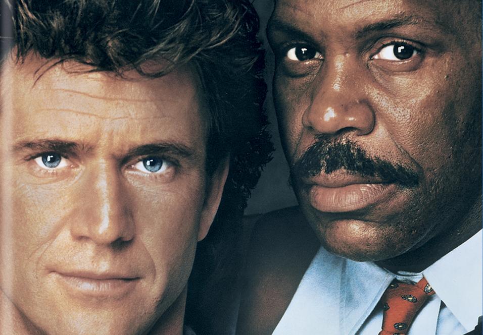 Mel Gibson og Danny Glover i Lethal Weapon 2.