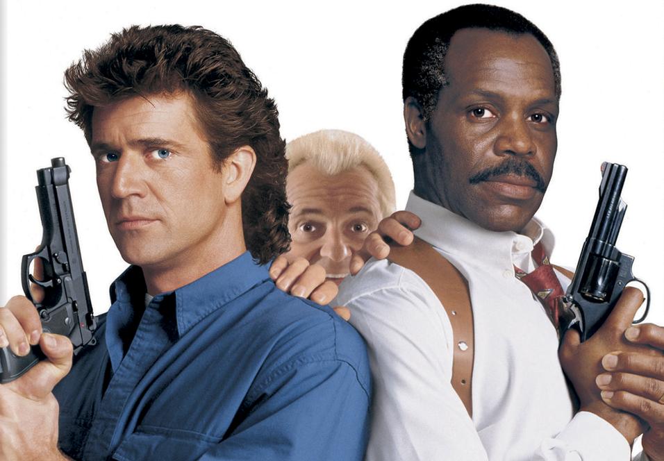 Mel Gibson, Joe Pesci og Danny Glover i Lethal Weapon 3.