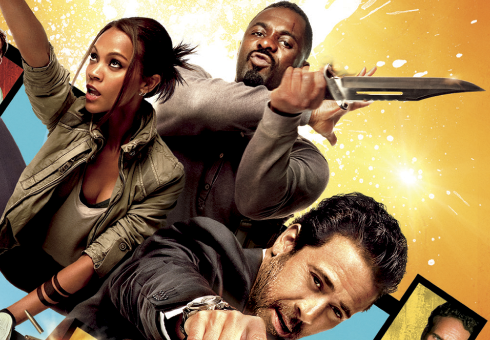 Zoe Saldana, Idris Elba og Jeffrey Dean Morgan i The Losers.