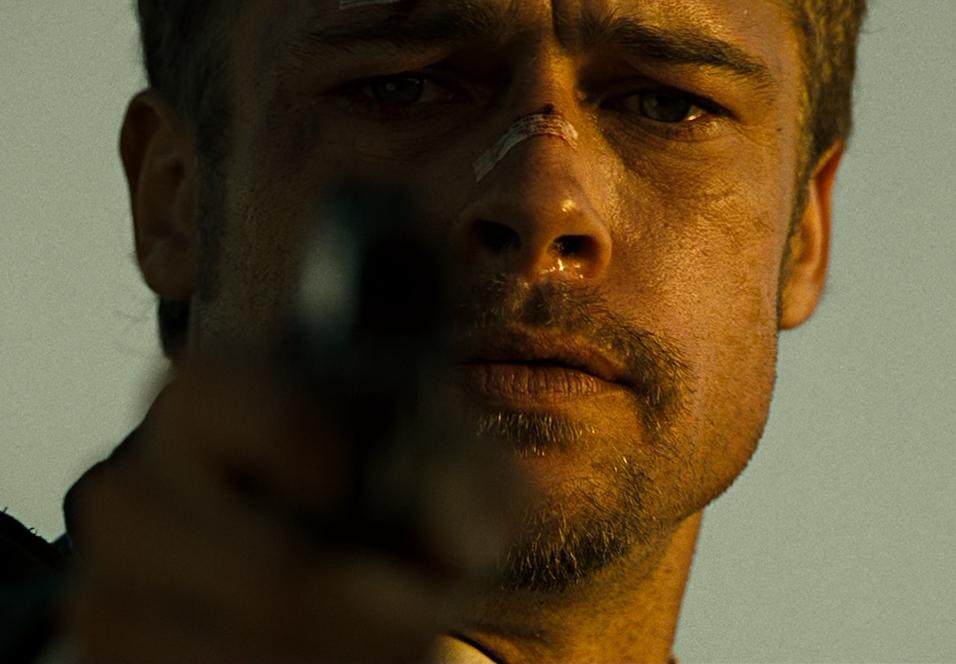 Brad Pitt som David Mills i Se7en.