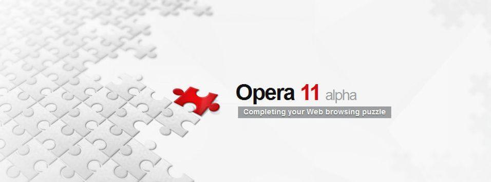 Opera 11 klar for testing