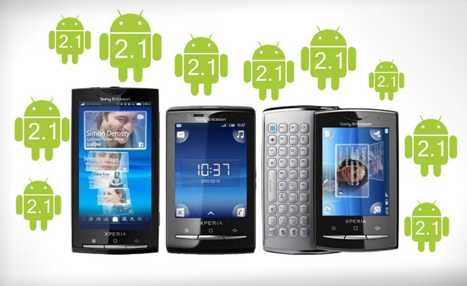 X10-modellene får endelig Android 2.1