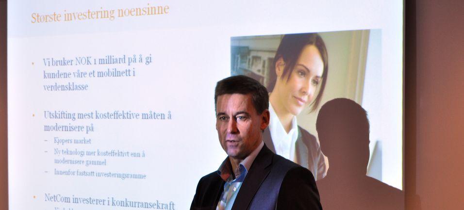 Netcom-sjef August Baumann forteller om fordelene ved å investere i nytt utstyr.