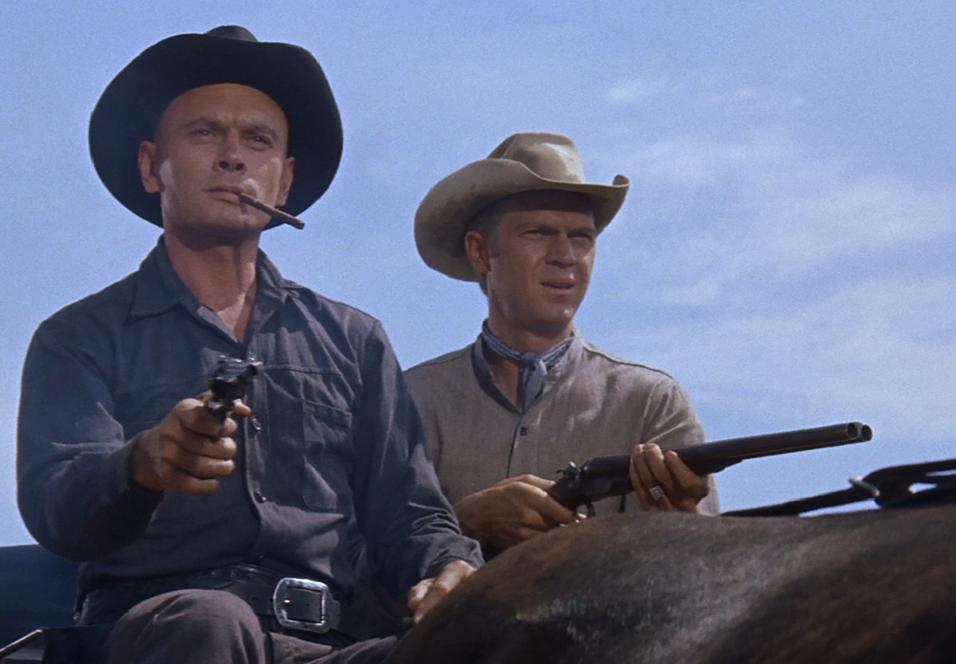 Yul Brynner og Steve McQueen i The Magnificent Seven.