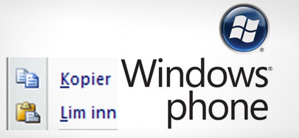 - Windows Phone 7 blir snart oppdatert