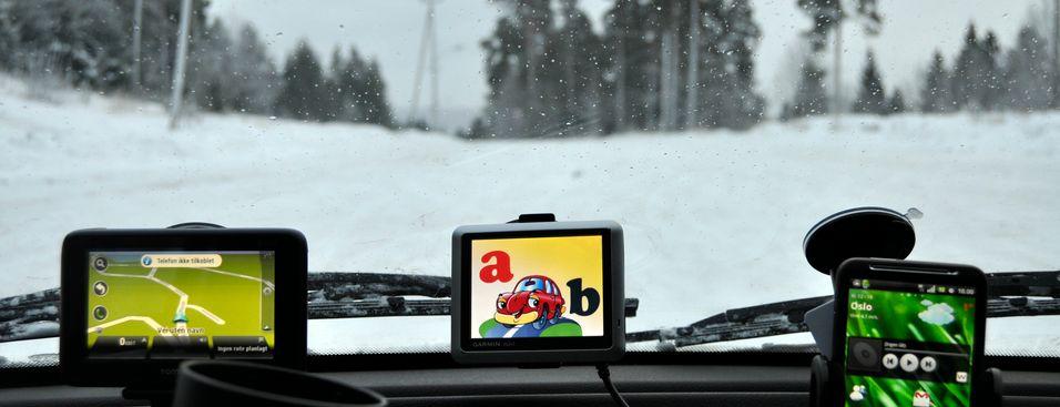 Garmin Nüvi 1200 er ikke den største skjermen du har sett, men den fungerer helt utmerket for enkel navigering. (Foto: Finn Jarle Kvalheim, Amobil.no)