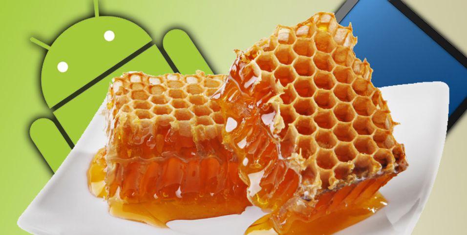 Honeycomb kun på nettbrett?