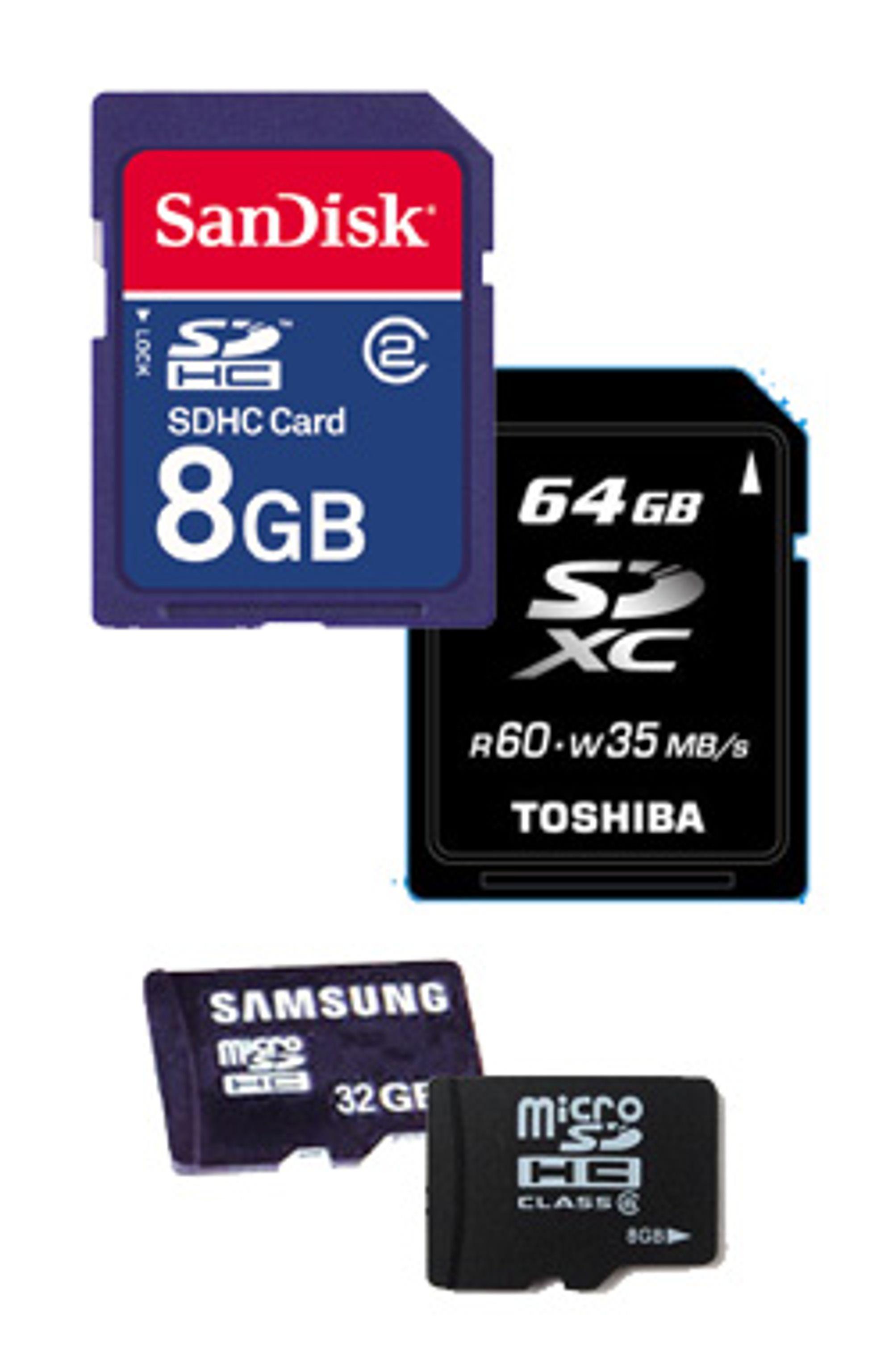 SDHC, SDXC, micro-SDHC og micro-SDXC er kortene som vil kunne nå nye hastighetshøyder.