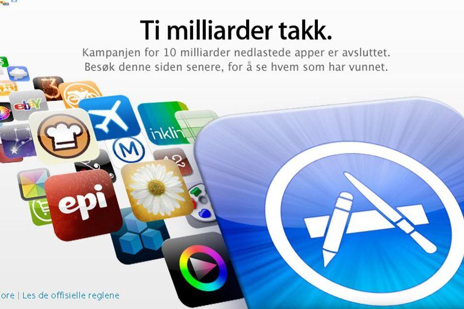 10 milliarder nedlastinger i App Store