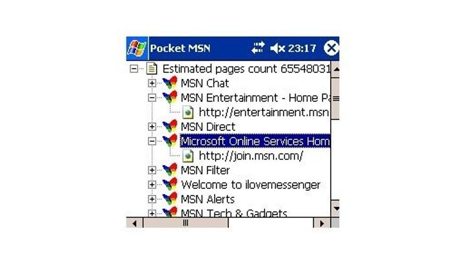 Pocket MSN Search 1.0