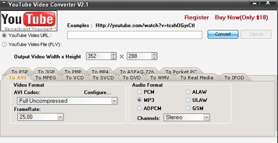 Youtube video converter v 2.1