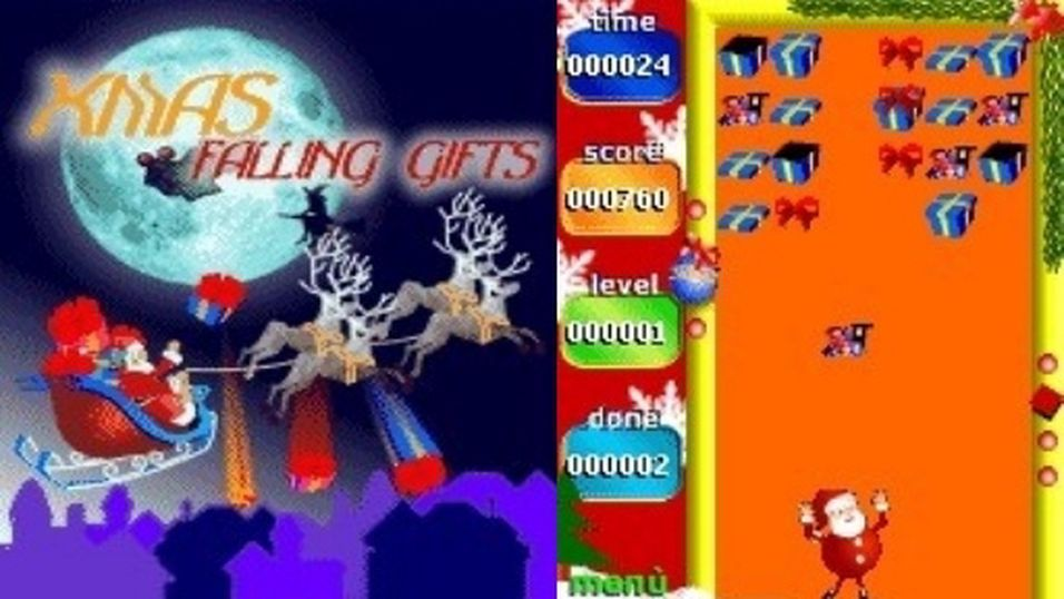 Xmas Falling Gifts