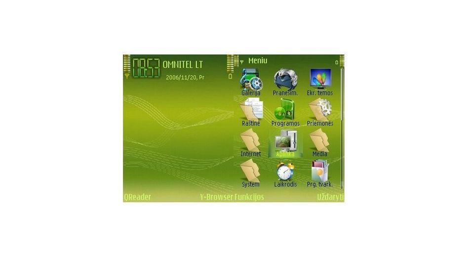 Music green mobiltema