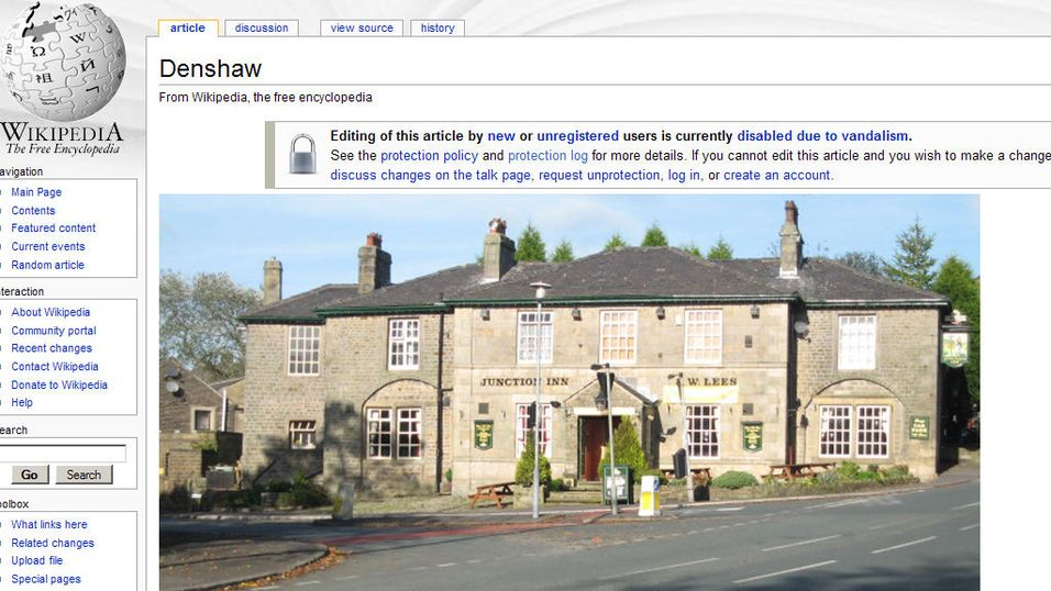 Småby angrepet av wikipediavandaler