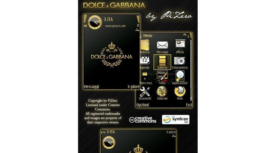 Dolce & Gabbana mobiltema