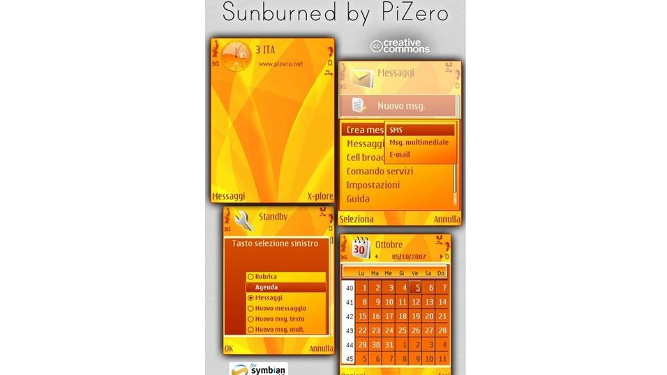 Sunburned mobiltema