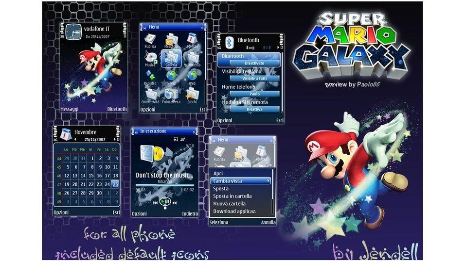 Super Mario Galaxy mobiltema