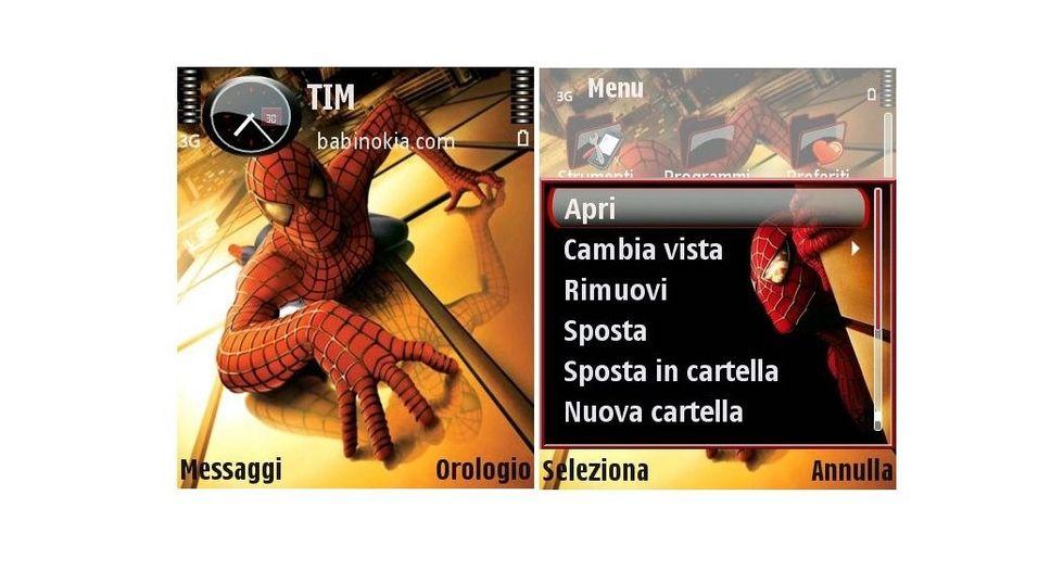 SpidermanV2 mobiltema