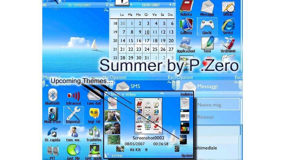 Summer mobiltema