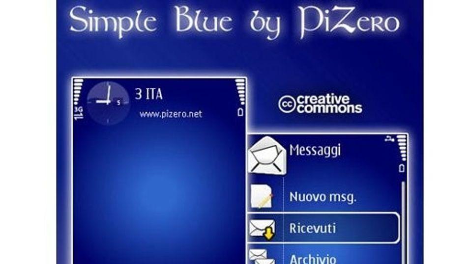 Simple Blue mobiltema