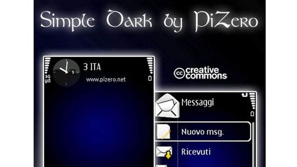 Simple Dark mobiltema