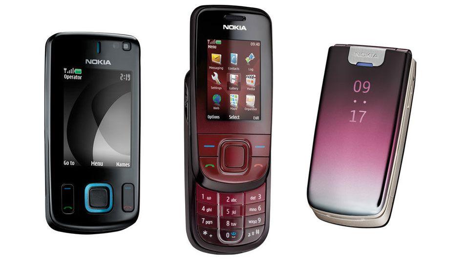 Nokia med tre rimelige designmobiler