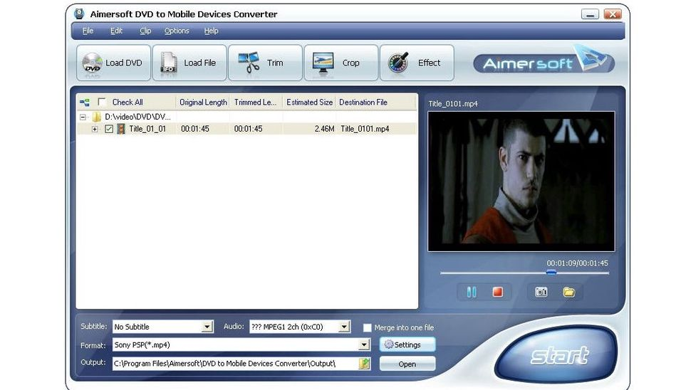 Aimersoft DVD to Mobile Devices Converter 1.1.52