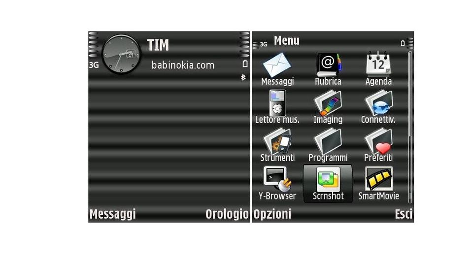 Dark gray mobiltema