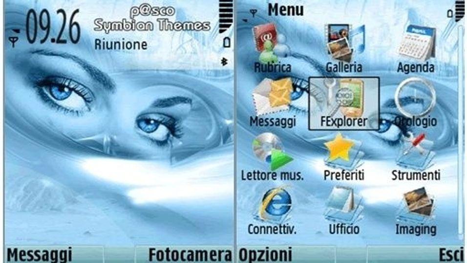 Icy Eyes mobiltema