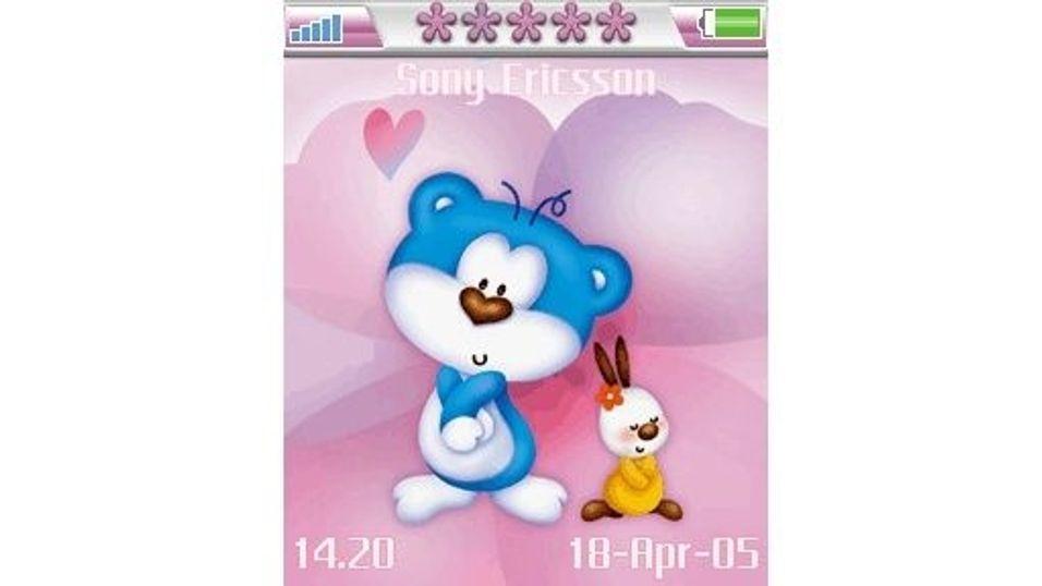 Blue Bear in Love mobiltema