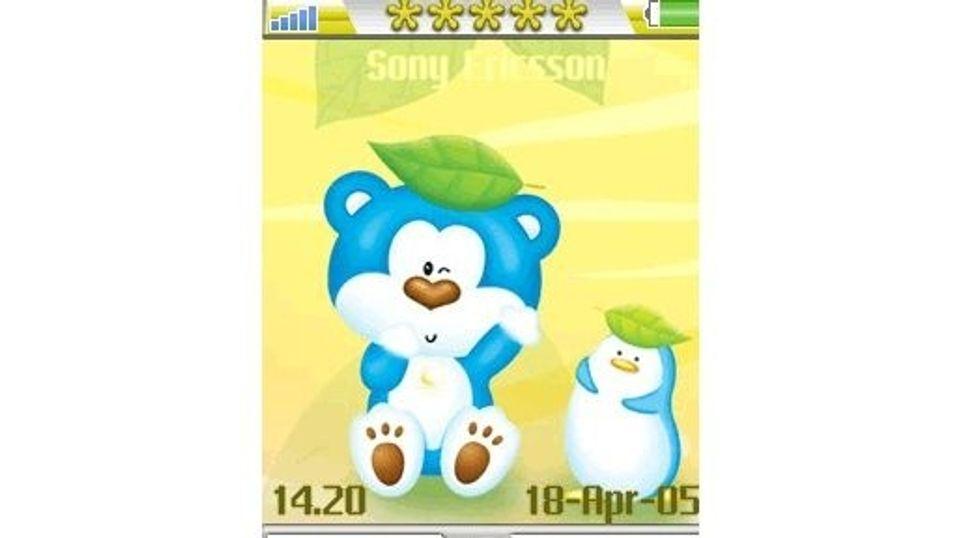 Blue Bear yellow mobiltema