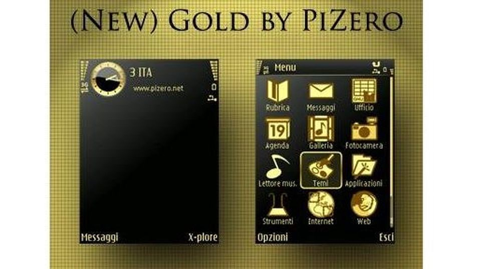 New Gold mobiltema