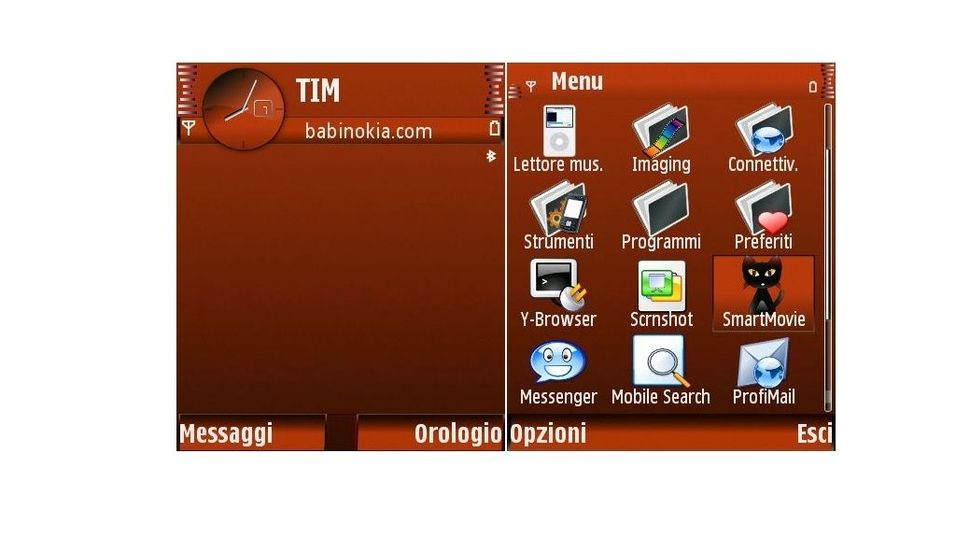 Only red mobiltema