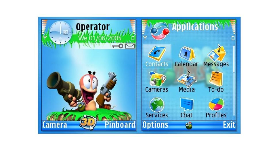 Worms3D mobiltema