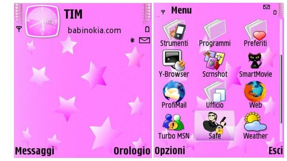 Pink stars mobiltema
