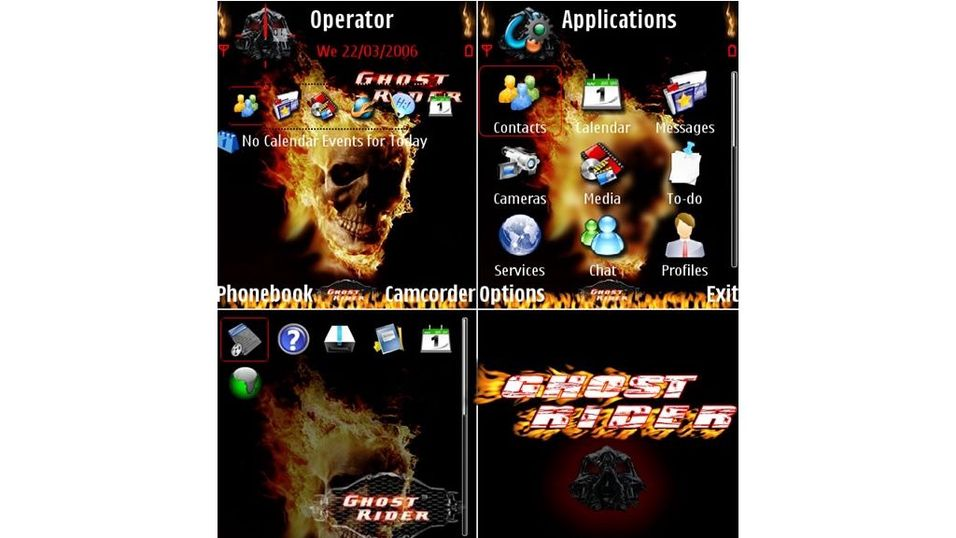 Theme Ghost Rider mobiltema