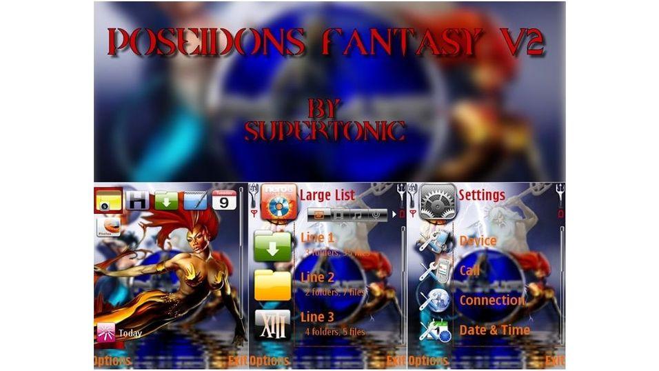 Poseidons Fantasy v2 mobiltema