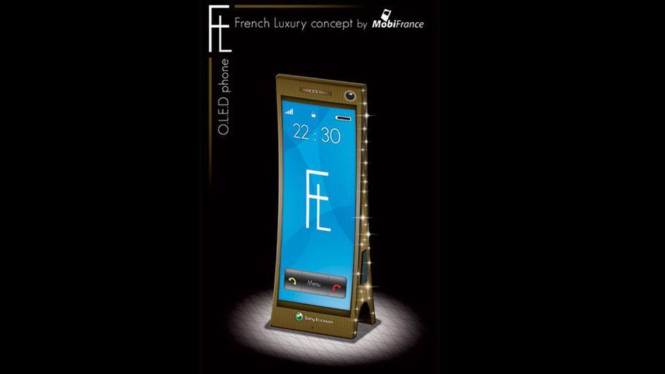 Sony Ericsson-mobil i Eifel Tårn-stil