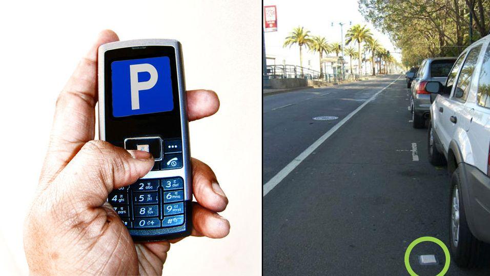 Finn ledig parkering med mobilen