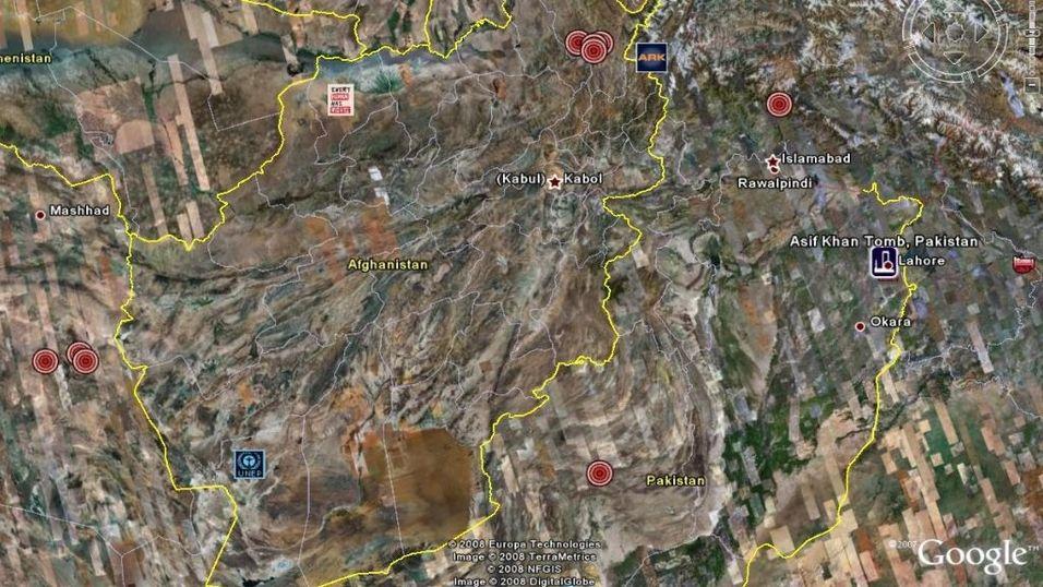 Arkeologiske funn via Google Earth