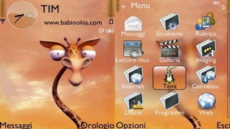 Giraffe mobiltema